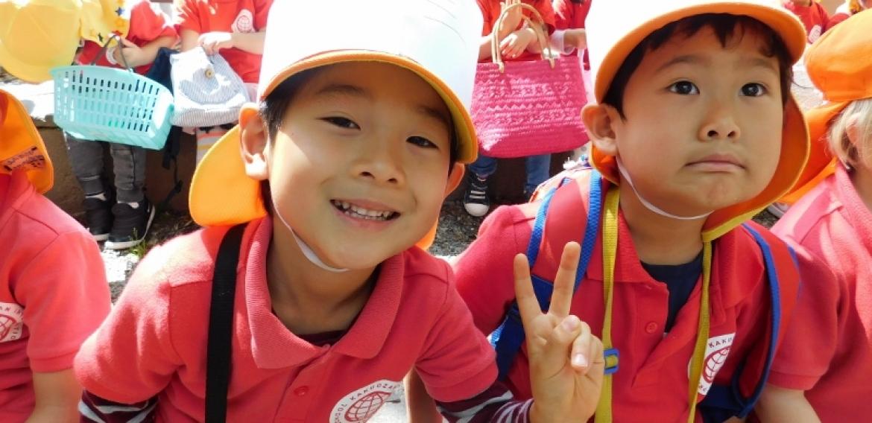 覚王山インターナショナルプリスクール 毎年恒例のイースターエッグハント