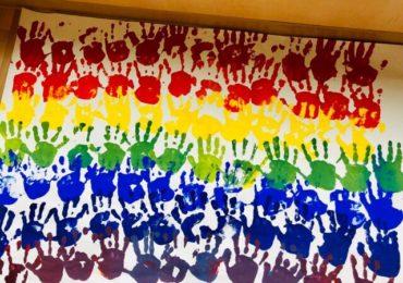 レインボーハンドペインティング 色を混ぜてみよう!/Hand Painting-Rainbow
